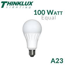 led light bulb 100 watt replacement thinklux tkua23s02