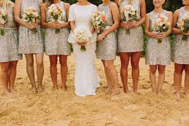 silver sequin bridesmaid dresses 15 pretty sequin bridesmaids dresses aisle