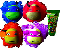 teenage mutant ninja turtles bath accessories bath pouf with