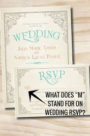 wedding rsvps what does m stand for on wedding rsvp