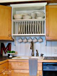 Building Custom Kitchen Cabinets Upgrade Cabinets By Building A Custom Plate Rack Shelf Custom