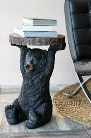 bear side table for the little man u0027s log cabin bedroom dream