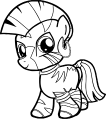 zecora filly very cute baby horse coloring page wecoloringpage