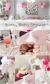 rabbit baby shower pink and silver bunny themed baby shower