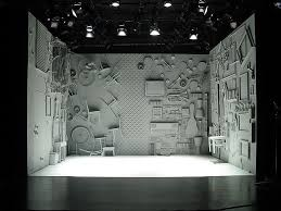 black and white stage design search the adding machine