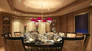 Inspiring And Magnificent Luxury Dining Room Decor With Red Shade