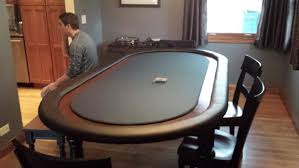 how to build a poker table forgive gallagher diy birch and pine poker table with padded topper