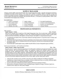 Logistics Manager Resume Sample by Sample Supply Chain Manager Resume