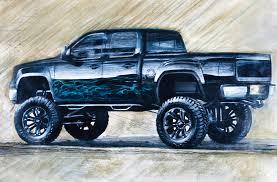2007 Chevy Silverado Pics Sketch Of Black Lifted Chevrolet Silverado Truck Cool Chevrolet