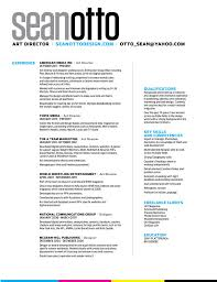 cv u2014 sean otto art director