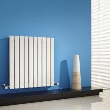 milano capri white horizontal flat panel designer radiator 635mm
