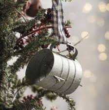 miniature antique gray tin sifter ornament trees other and click