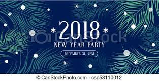 happy new year invitation happy new year 2018 party invitation with fir branches and