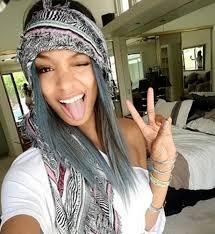 jordan dunn silver hair jourdan dunn dyed her hair blue for coachella festival beauty