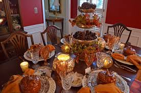 decorations 4 tiered centerpiece in 6 seat thanksgiving table