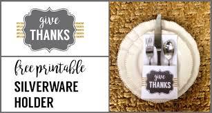 Thanksgiving Printable Free Thanksgiving Silverware Holder Free Printable Paper Trail Design