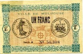 chambre commerce mulhouse billets billets des chambres de commerce mulhouse un franc thierry