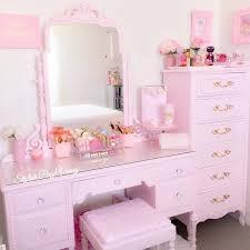 Pink Vanity Table 9309 Best Rooms Vanities Makeup Storage Images On Pinterest