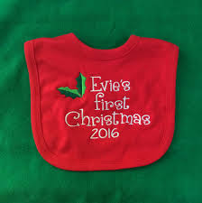 personalised first christmas bibs personalised embroidered gifts