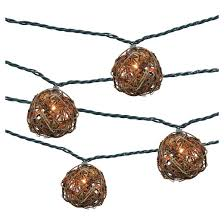 Light Up Balls On String by 10ct Decorative String Lights Iridescent Tear Drop Plastic Cover