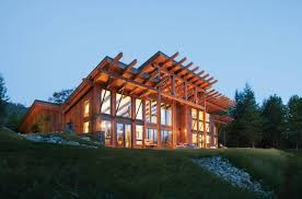 Modern Style Luxury Villa Exterior Modern Log And Timber Frame Homes And Plans By Precisioncraft
