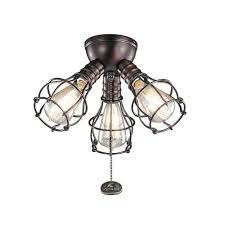 3 Light Ceiling Fixture Industrial Light Kit Ceiling Fans Bellacor
