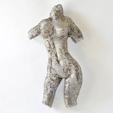 home sculptures metal sculpture woman sculpture wire mesh sculpture