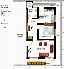 2 Bedroom House Plans Vastu My Little Indian Villa 16 R9 2bhk In 30x40 West Facing