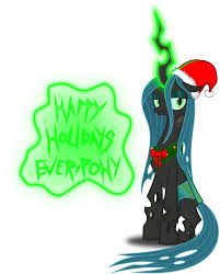 image queen chrysalis christmas pony by artist zimvader42 png
