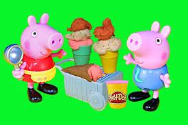 peppa pig play doh ice cream candy treats george ice cream