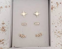 earring stud set goldfield earrings etsy