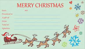 gift voucher templates for christmas u2013 fun for christmas