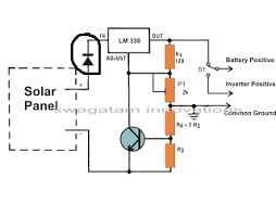 voltage regulator purpose of using diode with solar panel