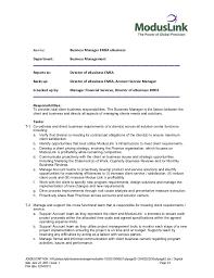 Teen Resume Templates Business Manager Job Description Business Development Manager Job
