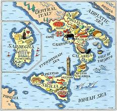 a map of best 25 southern italy map ideas on italy travel