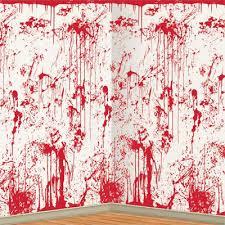 bulk halloween scene setters party supplies bloody wall backdrop 6cs