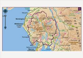 Lake District England Map by Geography With A Little Outdoor Goodness Thrown In More To