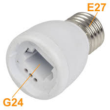 e27 to g24 led light bulb lamp socket adapter extender holder