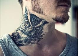 imagenes tatuajes cuello tattoo búho en el cuello