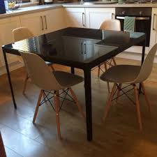 Black Glass Tables Black Glass Dining Table Ikea Best Gallery Of Tables Furniture