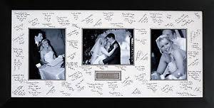 wedding signing frame panoramic personalised guest signing signature frame photos
