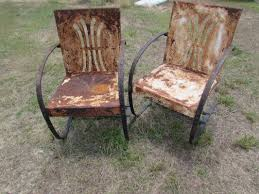 Old Fashioned Metal Outdoor Chairs by Mid Century Bunting Vintage Metal Lawn Chairs See History At Www