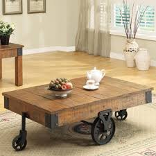 Country Coffee Tables by Coaster 701458 Accent Tables Distressed Country Wagon Coffee Table