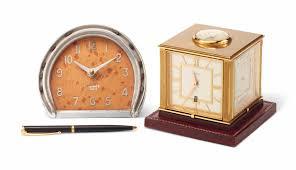 pendule de bureau pendule boussole de bureau á quatre faces rotative en laiton doré