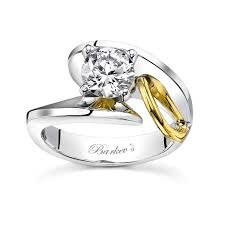 two tone wedding rings barkev s two tone engagement ring 7609l
