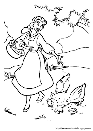 beauty beast coloring pages free kids