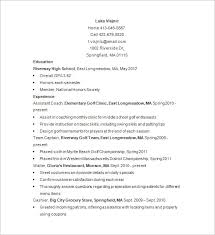 National Honor Society Resume Example Golf Caddy Resume Template U2013 8 Free Samples Examples Format
