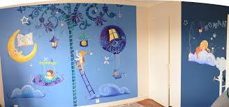 fresque murale chambre bébé freque pour une chambre de garçon par laure phelipon