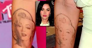 megan fox removes marilyn monroe tattoo ny daily news