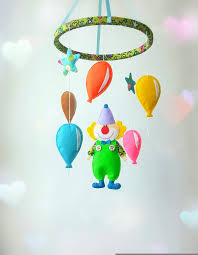 clown mobile nursery baby mobile crib mobile by zootoys on zibbet